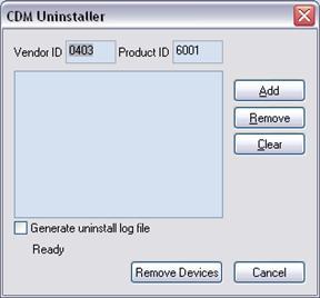 FTDI CDM Utility